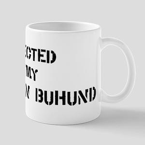 Protected by Norwegian Buhund Mug