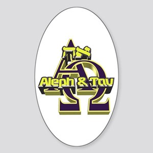Aleph & Tav Oval Sticker