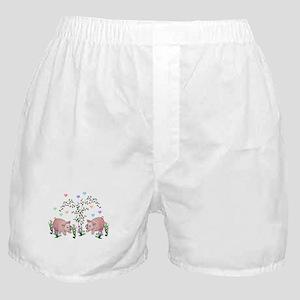 Pigs In Garden Boxer Shorts