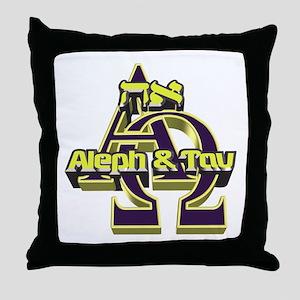 Aleph & Tav Throw Pillow