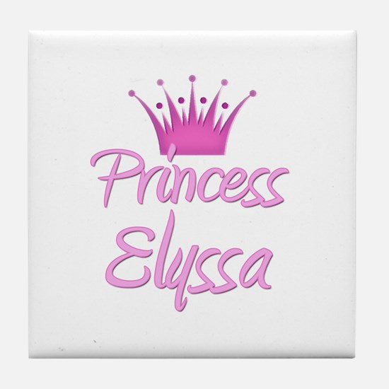 Princess Elyssa Tile Coaster