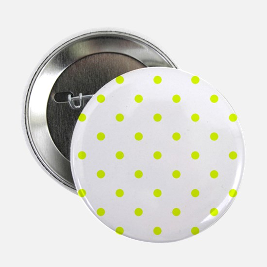 "Chartreuse Small Polka Dots 2.25"" Button (10 pack)"