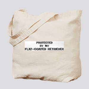 Protected by Flat-Coated Retr Tote Bag