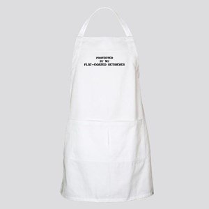 Protected by Flat-Coated Retr BBQ Apron