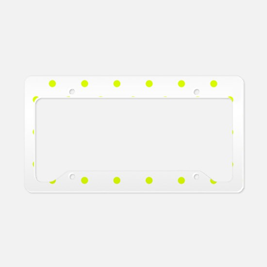 Chartreuse Small Polka Dots ( License Plate Holder