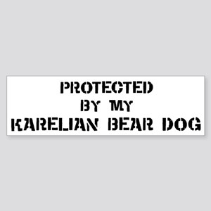 Protected by Karelian Bear Do Bumper Sticker