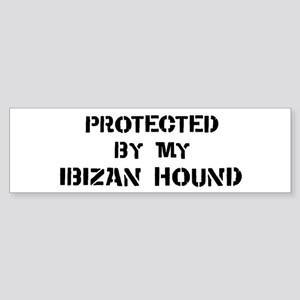 Protected by Ibizan Hound Bumper Sticker