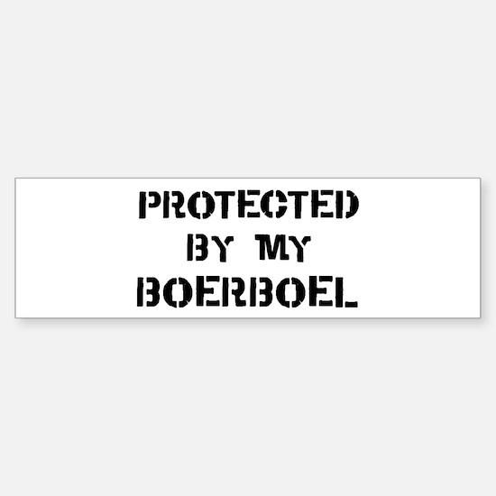 Protected by Boerboel Bumper Bumper Bumper Sticker