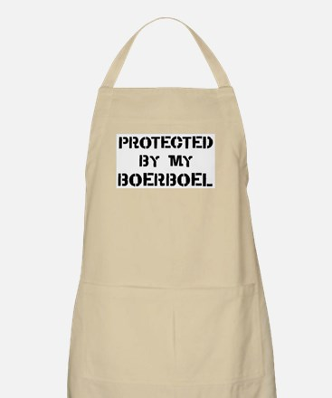 Protected by Boerboel BBQ Apron