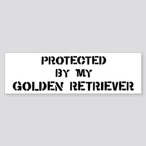 Protected by Golden Retriever Bumper Sticker