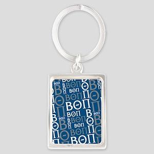 Beta Theta Pi Letters Pattern Bl Portrait Keychain