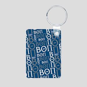 Beta Theta Pi Letters Patt Aluminum Photo Keychain