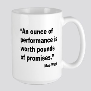 Mae West Performance Quote Large Mug