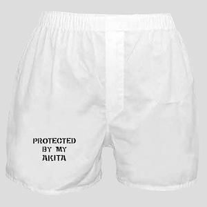 Protected by Akita Boxer Shorts