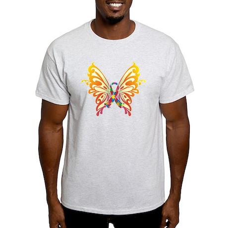 Autism Butterfly Ribbon Light T-Shirt