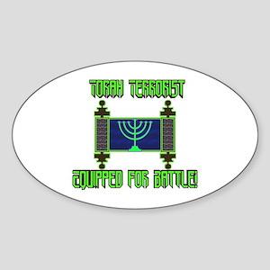 Torah Terrorist! Oval Sticker