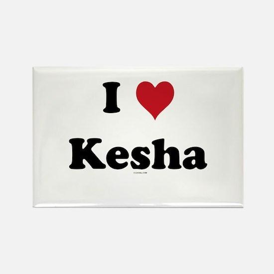 I love Kesha Rectangle Magnet