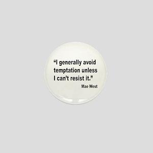 Mae West Temptation Quote Mini Button
