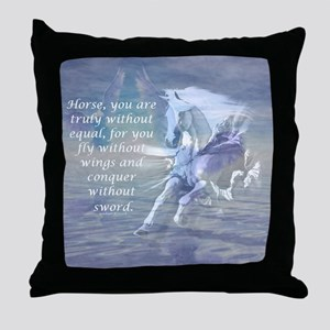 Horse without equal Throw Pillow