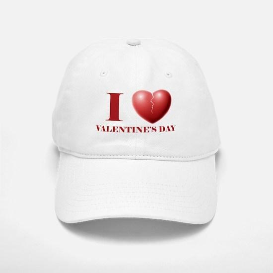 I Broken Heart V-Day Baseball Baseball Cap