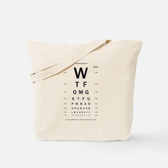 1337 eYe Ch4rt Tote Bag