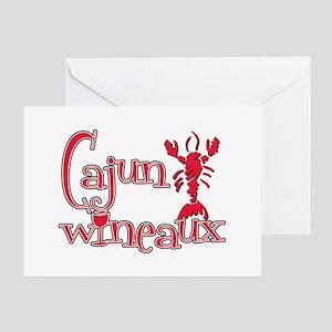 Cajun Wineaux crawfish red Greeting Card