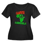 Save Sangala Women's Plus Size Scoop Neck Dark T-S