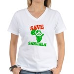 Save Sangala Women's V-Neck T-Shirt