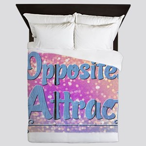 Opposites Attract Queen Duvet