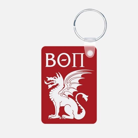 Beta Theta Pi Dragon Lette Aluminum Photo Keychain
