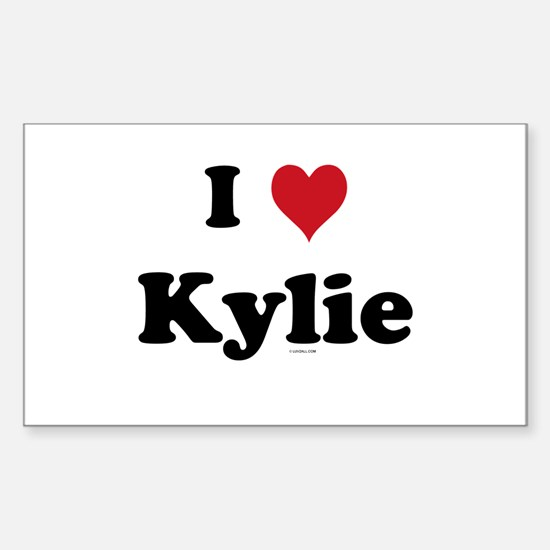 I love Kylie Rectangle Decal