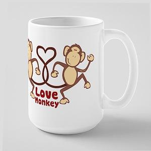 Monkey Tails Heart Large Mug
