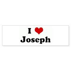 I Love Joseph Bumper Sticker (10 pk)