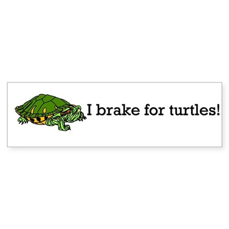 Brake for Turtles Bumper Sticker