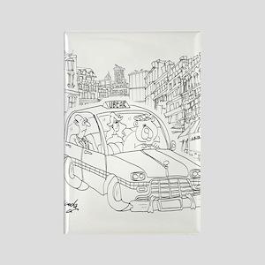 Uber Cartoon 9440 Rectangle Magnet