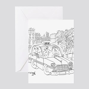 Uber Cartoon 9440 Greeting Card