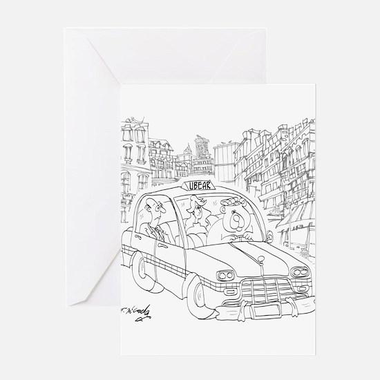 Uber Cartoon 9440 Greeting Card