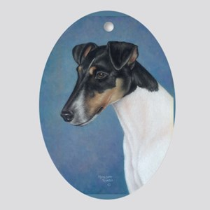 Smooth Fox Terrier Oval Ornament