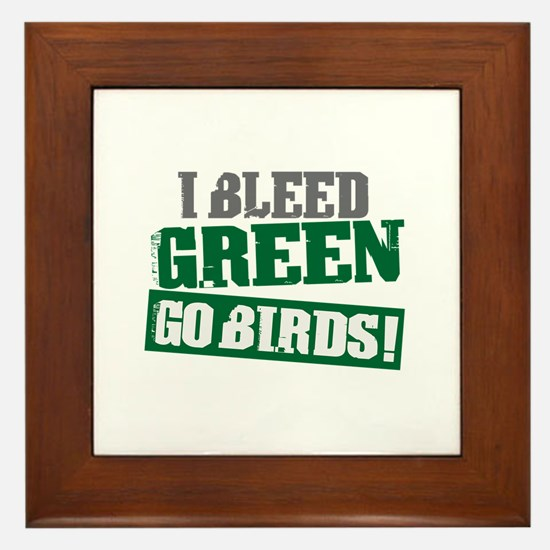 I Bleed Green (Philly) Framed Tile
