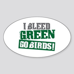I Bleed Green (Philly) Oval Sticker