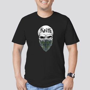 Keith Tartan Bandit Men's Fitted T-Shirt (dark)
