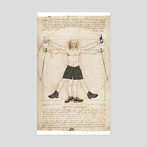 Leonardo's Hiker Rectangle Sticker
