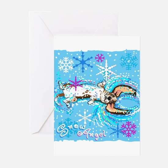 Snow Angel copy Greeting Cards