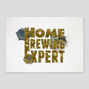 Home Brewing Expert 5'x7'Area Rug