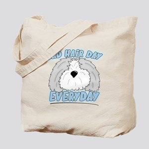 Bad Hair Day Sheepdog Tote Bag