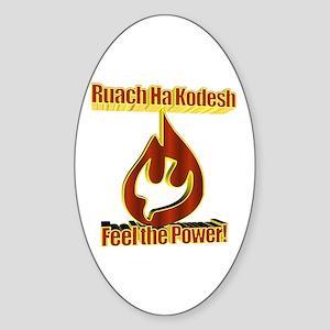 Feel the Power! Oval Sticker