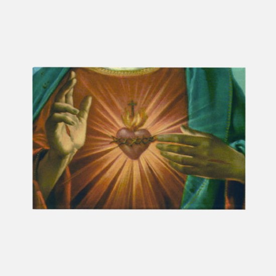 Sacred Heart 2 Rectangle Magnet
