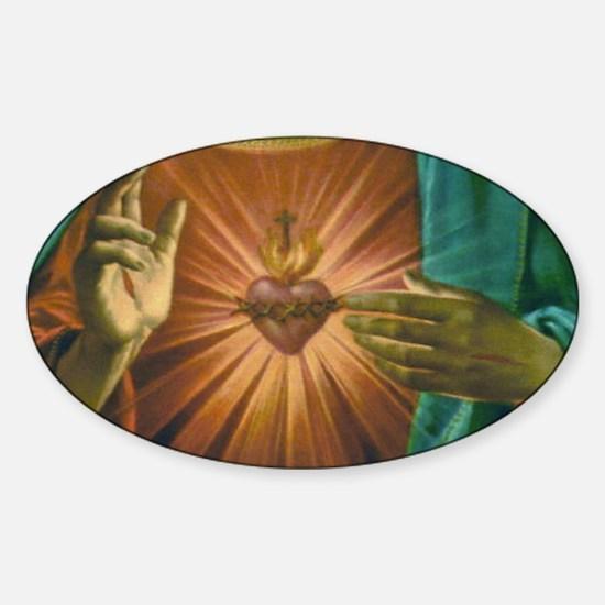Sacred Heart 2 Oval Decal
