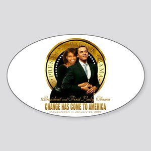 Inauguration - Change Oval Sticker