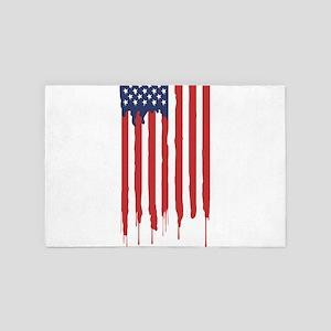 Bleeding American Flag 4' x 6' Rug